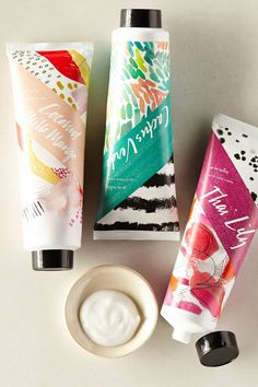 Go Be Lovely Hand Cream. Gorgeous packaging! Love the colors & style. #packagedesign #graphicdesign