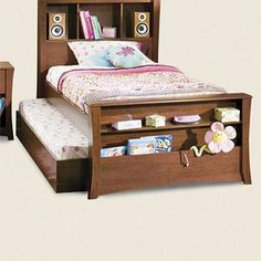 Trundle bed instead of roll guard.