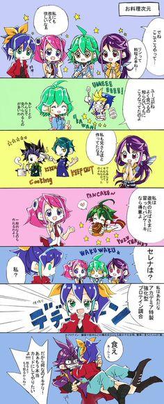 Serena, Yuzu, Rin, Ruri, Yugo, Yuto, Shun, Yuya and Yuri