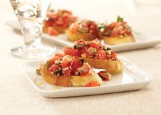 Olive Bruschetta: Full of flavor and rich with vegetables, this holiday appetizer takes olives to a whole new place. Don't forget to pick up your hot french bread from 4-6pm at Farm Fresh!