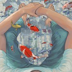 ᐅ Die 99 Besten Bilder von Illustration in 2019 Kazu Tabu Art And Illustration, Illustrations And Posters, Anime Kunst, Anime Art, Ap Art, Fish Art, Aesthetic Art, Oeuvre D'art, Art Inspo