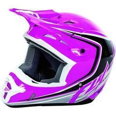 FLY Racing KINETIC FULLSPEED Motocross Helmets Pink/Black/White