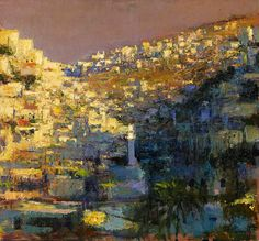 Andrew Gifford -Mosque in the Silwan Valley, study