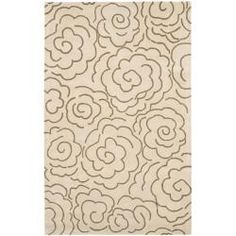 @Overstock.com - Handmade Soho Roses Beige New Zealand Wool Rug (7'6 x 9'6) - A handmade New Zealand wool rug like this Soho Roses area rug instantly liven up any room. Lovely beige tones with ivory floral detailing make this 1/2-inch pile rug perfect for a living room or bedroom that needs a splash of color.  http://www.overstock.com/Home-Garden/Handmade-Soho-Roses-Beige-New-Zealand-Wool-Rug-76-x-96/6174629/product.html?CID=214117 $322.49