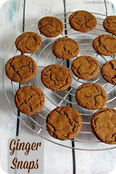 Sweetly spiced Ginger Snaps will bring back memories of holidays long past.  These Ginger Snaps are a must for your cookie jar!   Cooking In Stilettos
