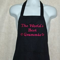 Grammie Apron Embroider Custom Personalize With by AGiftToTreasure