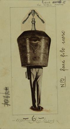 Bruno Munari fotomontaggio 1936   eccomi in breve   here I am briefly   Courtesy Archivio Cirulli