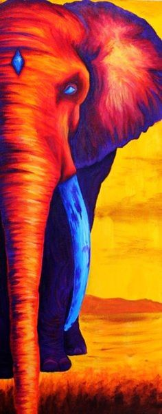 Sunset Elephant Art Print- painting next Wow Art, African Art, Painting Inspiration, Painting & Drawing, Large Painting, Amazing Art, Awesome, Illustration, Art Drawings