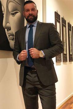 Mens Fashion Suits, Mens Suits, David Beckham Suit, Scruffy Men, Hairy Men, Formal Men Outfit, Formal Wear, Costume Sexy, Designer Suits For Men