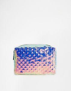 f43cc46ac6 ASOS Textured Hologram Makeup Bag Hologram