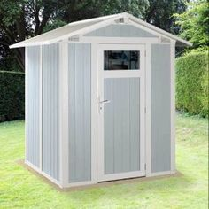 Grosfillex design adorable displays of small plastic storage sheds. Wrapped in easy-cleaned weatherproof PVC & secured around a sturdy steel construction: Plastic Storage Sheds, Diy Storage Shed Plans, Plastic Sheds, Built In Storage, Pvc Storage, Garden Shed Kits, Diy Shed Kits, Wood Plastic, Custom Sheds