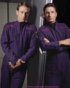 Star Trek Enterprise. Trip and Malcolm Reed