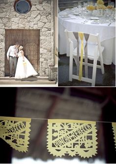 perfect simple ribbon chair decor! #weddings #ribbons #chairs