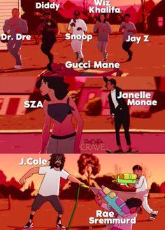 The Complicated Blerd — Childish Gambino - Feels Like Summer Wizz Khalifa, Boondocks Drawings, Summer Lyrics, Black Tv Shows, Rapper Art, Donald Glover, Childish Gambino, Black Love Art, Gucci Mane