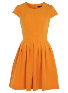 orange skater dress, miss selfridge £42