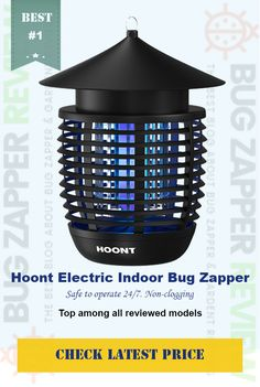 #Hoont Powerful Electric Indoor Bug Zapper *POWERFUL FLY & INSECT CONTROL *Non-clogging and easy to clean electric grid. *EFFECTIVE & LARGE AREA COVERAGE *PESTICIDE, CHEMICAL & ODOR FREE *For indoor use, or outdoors where unit will stay dry.