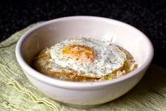Bacon, leek, & egg risotto