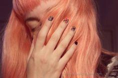 Pictures of pastel orange hair dye - Pastel Orange Hair, Orange Hair Dye, Dyed Hair Pastel, Peach Hair, Pink Hair, Colorful Hair, Blorange Hair, Creative Hairstyles, Brunette Hair