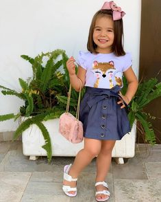 Toddler Girl Outfits, Little Girl Dresses, Kids Outfits, Girls Dresses, Cute Outfits, Girls Fashion Clothes, Baby Girl Fashion, Kids Fashion, Fashion Outfits