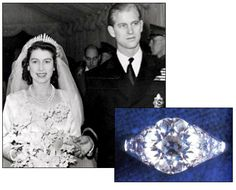 QUEEN ELIZABETH II was presented with this 3 carat diamond solitaire engagement ring from Prince Philip of Greece and Denmark, which came from his mother's tiara. They married in 1947.
