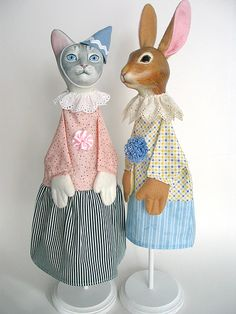 Kitty Rabbit Hand Puppets