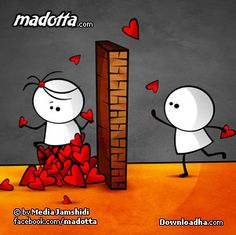 Madotta by MediaJamshidi on DeviantArt Cute Couple Cartoon, Cute Cartoon Pictures, Cute Love Cartoons, Cute Love Couple, Cartoon Pics, Cute Pictures, Cartoon Characters, Stick Figure Drawing, Love Doodles