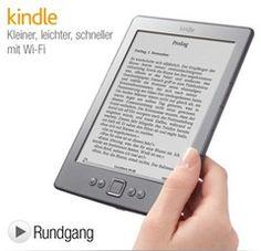 Kindle eReader, Wi-Fi mit deutschem Men fr nur noch 49,00