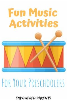 Music activities stimulate many areas of a preschooler's development, including motor, language and auditory perceptual skills. Here are some tips and great ideas for activities. Grab these ideas for your playtime today. Movement Preschool, Preschool Music Activities, Senses Activities, Listening Activities, Movement Activities, Preschool Learning, Toddler Activities, Music For Toddlers, Toddler Music