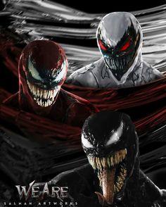 Venom, Carnage & Anti-Venom from Marvel Venom Comics, Marvel Dc Comics, Marvel Villains, Marvel Comic Universe, Marvel Vs, Marvel Heroes, Marvel Characters, Dc Universe, Venom Spiderman