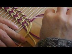 TELAR DECORATIVO punto zigzag completo. - YouTube Tapestry Weaving, Weaving Techniques, Yarn Crafts, Fiber Art, Textiles, Knitting, Canvases, Google, Youtube