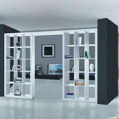 libreria bifacciale divisoria - Cerca con Google Tv Wall Decor, Room Decor, Grill Door Design, Kerala House Design, Dream House Interior, Minimalist Bedroom, House Rooms, Living Room Designs, Furniture Design