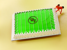 We offer custom cakes, cupcakes, and cake squares in delicious flavors like Pink Lemonade, Red Velvet, Devil's Food and more! Football Field Cake, Sports Themed Cakes, Devils Food, Wake Forest, Bakery Cakes, Specialty Cakes, Pink Lemonade, Custom Cakes, Red Velvet