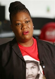 Sybrina Fulton, mother of Trayvon Martin, speaks with the Associated Press in Miami, Wednesday, Feb. 25, 2015. The U.S. Justice Department said Tuesday, Feb. 24, 2015, that George Zimmerman, the former neighborhood watch volunteer will not face federal charges in the shooting death of unarmed 17-year-old Martin. Zimmerman was acquitted in 2013 of second-degree murder. (AP Photo/Marta Lavandier)