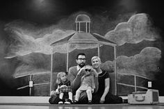 A family photo session served with lots of yellow and a hand-drawn lighthouse | Offbeat Families