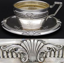 Vintage Belgian .800 Silver Chocolate Cup, Tea Cup & Saucer