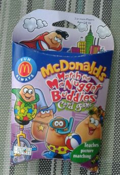 MCDONALD'S FAST FOOD RESTAURANT MATCH THE MCNUGGET BUDDIES CARD GAME 2001 *RARE - http://hobbies-toys.goshoppins.com/fast-food-cereal-premium-toys/mcdonalds-fast-food-restaurant-match-the-mcnugget-buddies-card-game-2001-rare/