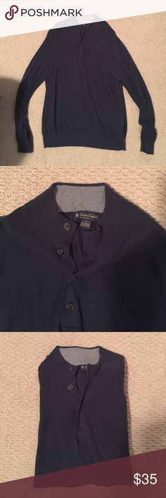 MEN'S Brooks Brothers Blue Cotton/Cashmere Polo Navy blue Brooks Brothers 4-button polo shirt. Really soft shirt as it is a mix between cotton and cashmere AND WHO DOESN'T LOVE CASHMERE!!! Purchase 2 or more items of mine and receive 15% off! Brooks Brothers Shirts Polos