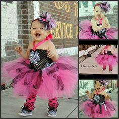 Diva tutu dress hot pink and zebra by ILUVMYTUTUBYGG on Etsy,