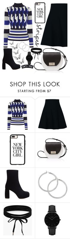 """""""Striped"""" by hollistergirl911 ❤ liked on Polyvore featuring Dorothee Schumacher, Casetify, Joanna Maxham, Miu Miu, Boohoo and CLUSE"""