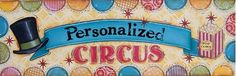 Circus Name Plate Personalized Canvas Reproduction