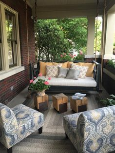... Swings on Pinterest  Porch swings for sale, Hanging porch bed and
