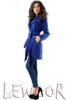 Кашемировое модное пальто с закруглённым подолом спереди - купить оптом и в розницу, интернет-магазин женской одежды lewoor.com