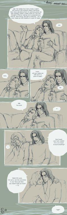 Lestat & Louis  http://pre02.deviantart.net/ba43/th/pre/f/2008/068/3/c/vc___boys___night_in_by_eeba_ism.jpg