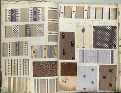 1850-1900 Textile Sample Book