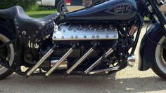 Lincoln-Zephyr flathead V12 powered motorcycle