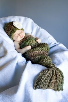 mermaid costume crochet baby