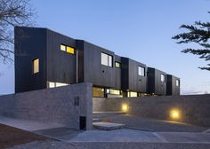Galvez Autunno Arquitectos has completed a cluster of residential buildings in the small Argentinian town of Las Heras