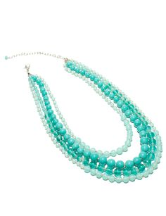 The Limited - Faux Turquoise Multi-strand Necklace in Turquoise: $34.90