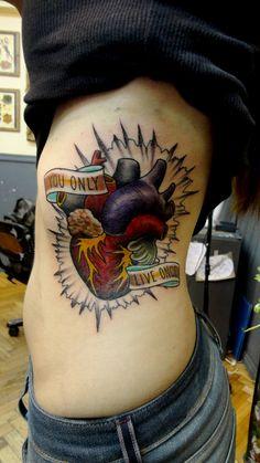 ~heart tattoo ribs