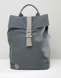 Image 1 of Mi-Pac Canvas Backpack In Grey